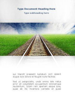 Rails Word Template, Cover Page, 08909, Business Concepts — PoweredTemplate.com