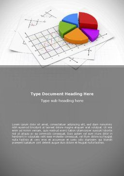 Pie Diagram Word Template, Cover Page, 08910, Financial/Accounting — PoweredTemplate.com