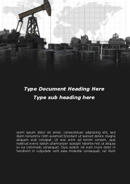 Oil Pump Word Template, Cover Page, 08911, Utilities/Industrial — PoweredTemplate.com