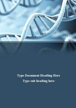 DNA Microphotography Word Template, Cover Page, 08912, Medical — PoweredTemplate.com