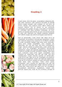 Vegetables Collage Word Template Second Inner Page
