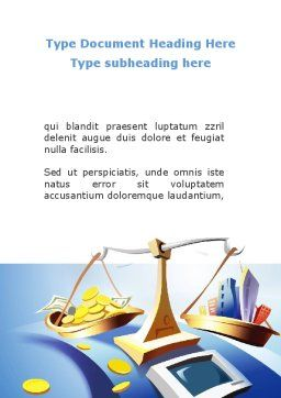 Legal Support Of Real Estate Word Template, Cover Page, 08917, Legal — PoweredTemplate.com