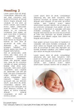 Little Baby Sleeping Word Template First Inner Page