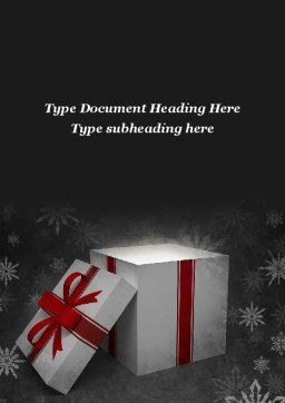 Christmas Present Box Word Template, Cover Page, 08920, Holiday/Special Occasion — PoweredTemplate.com