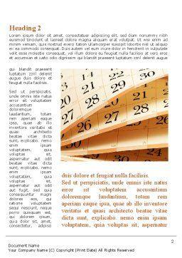Calendar Word Template, First Inner Page, 08921, Business — PoweredTemplate.com