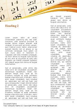 Calendar Word Template, Second Inner Page, 08921, Business — PoweredTemplate.com