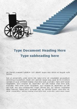 Wheel Chair Word Template, Cover Page, 08922, Religious/Spiritual — PoweredTemplate.com