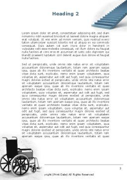 Wheel Chair Word Template, Second Inner Page, 08922, Religious/Spiritual — PoweredTemplate.com