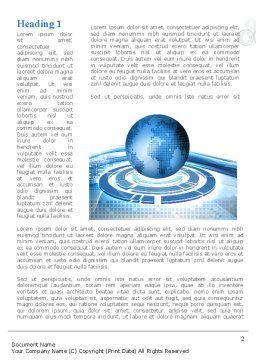 Blue Tech Globe Word Template First Inner Page
