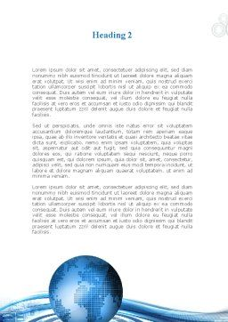 Blue Tech Globe Word Template Second Inner Page
