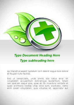 Herbal Pharmacy Word Template, Cover Page, 08925, Medical — PoweredTemplate.com