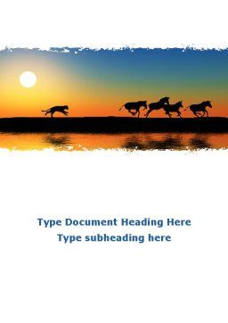 Savannah Sunset Word Template Cover Page