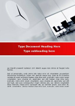 Office Time Word Template, Cover Page, 08928, Business — PoweredTemplate.com
