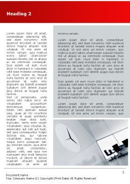 Office Time Word Template, First Inner Page, 08928, Business — PoweredTemplate.com