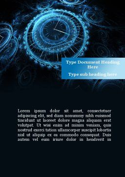 Ticking Time Word Template, Cover Page, 08931, Consulting — PoweredTemplate.com