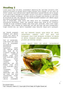 Mulberry Tea Word Template, First Inner Page, 08933, Food & Beverage — PoweredTemplate.com