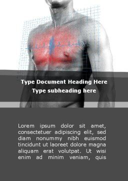 Heart Attack Word Template, Cover Page, 08936, Medical — PoweredTemplate.com