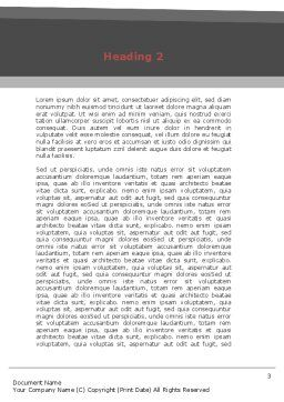 Heart Attack Word Template, Second Inner Page, 08936, Medical — PoweredTemplate.com