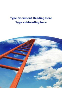 Ladder to Sky Word Template, Cover Page, 08940, Consulting — PoweredTemplate.com