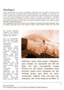Handshake In Sepia Word Template, First Inner Page, 08941, Business — PoweredTemplate.com