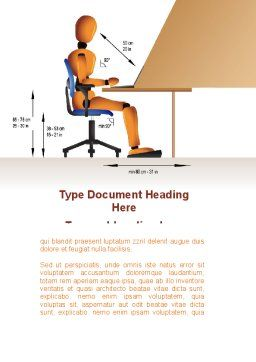 Ergonomics Word Template Cover Page