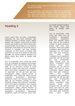 Ergonomics Word Template, Second Inner Page, 08944, Education & Training — PoweredTemplate.com