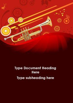 Trumpet Music Word Template Cover Page