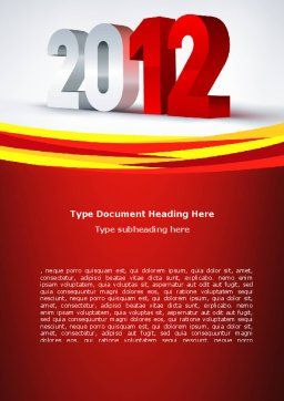 2012 Year Word Template, Cover Page, 08947, Business — PoweredTemplate.com