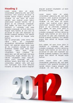 2012 Year Word Template, First Inner Page, 08947, Business — PoweredTemplate.com