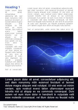 Digital Blue Word Template, First Inner Page, 08948, Technology, Science & Computers — PoweredTemplate.com