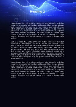 Digital Blue Word Template, Second Inner Page, 08948, Technology, Science & Computers — PoweredTemplate.com
