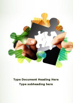 Addition Of A Puzzle Word Template, Cover Page, 08949, Consulting — PoweredTemplate.com