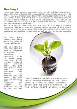 Renewable Green Energy Word Template, First Inner Page, 08950, Nature & Environment — PoweredTemplate.com