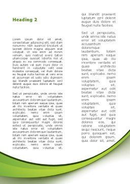 Renewable Green Energy Word Template, Second Inner Page, 08950, Nature & Environment — PoweredTemplate.com