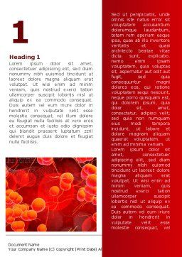 Blood Cells Word Template, First Inner Page, 08953, Medical — PoweredTemplate.com