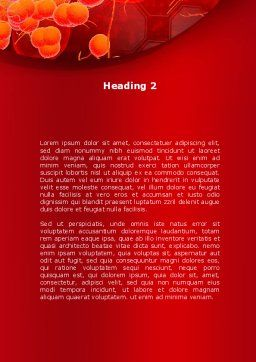 Blood Cells Word Template, Second Inner Page, 08953, Medical — PoweredTemplate.com
