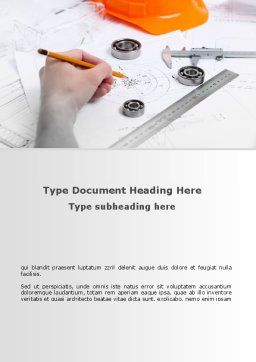 Technical Engineering Word Template, Cover Page, 08955, Careers/Industry — PoweredTemplate.com