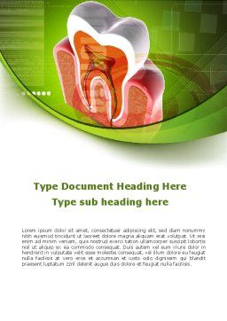Tooth In Section Word Template, Cover Page, 08956, Medical — PoweredTemplate.com