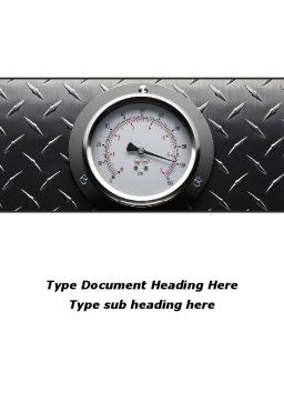 Pressure Gauge Word Template, Cover Page, 08957, Utilities/Industrial — PoweredTemplate.com