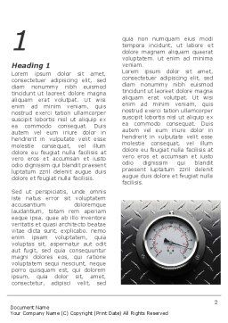 Pressure Gauge Word Template, First Inner Page, 08957, Utilities/Industrial — PoweredTemplate.com