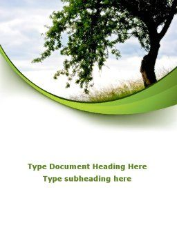 Green Tree Word Template Cover Page