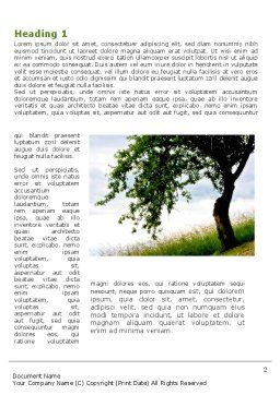 Green Tree Word Template First Inner Page