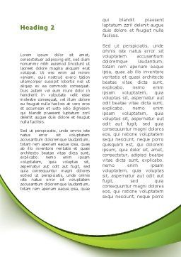 Green Tree Word Template Second Inner Page