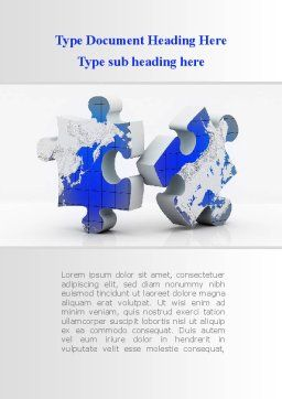 World Map Fragments Word Template Cover Page