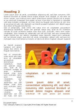 Educational Letters Word Template First Inner Page