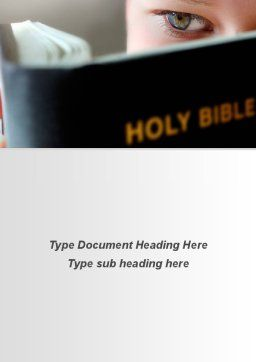 Holy Bible Study Word Template, Cover Page, 08961, Religious/Spiritual — PoweredTemplate.com