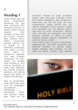 Holy Bible Study Word Template, First Inner Page, 08961, Religious/Spiritual — PoweredTemplate.com