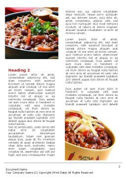 Cooked Food Word Template, First Inner Page, 08962, Food & Beverage — PoweredTemplate.com