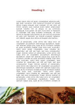 Cooked Food Word Template, Second Inner Page, 08962, Food & Beverage — PoweredTemplate.com