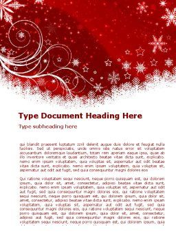 Snowflake Blizzard Word Template, Cover Page, 08964, Holiday/Special Occasion — PoweredTemplate.com